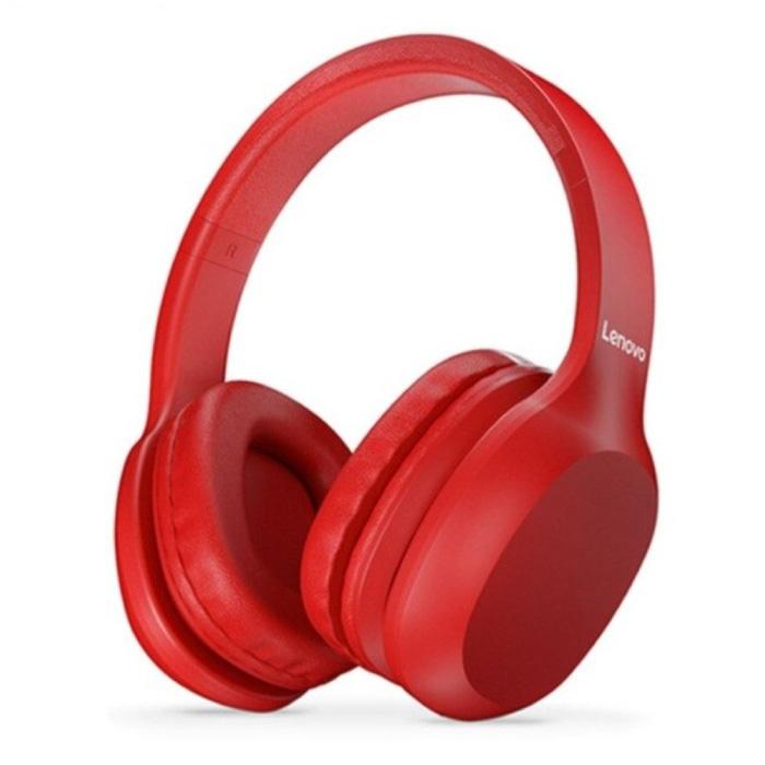 Casque Bluetooth HD100 avec connexion AUX - Casque avec microphone Casque DJ Rouge