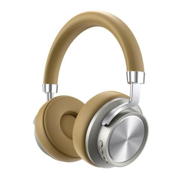 HD800 Bluetooth Koptelefoon met AUX Aansluiting - Headset DJ Headphones Beige