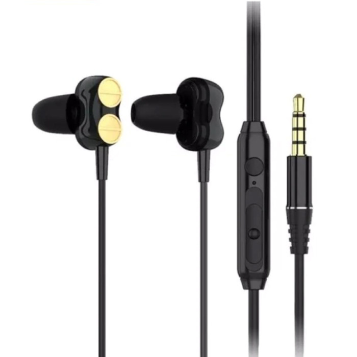 H102 Earbuds with Mic and Controls - 3.5mm AUX Earpieces Volume Control Wired Earphones Earphone Black