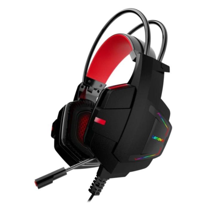Casque de jeu HU85 avec microphone - Casque de connexion USB avec casque HiFi Sound DJ noir
