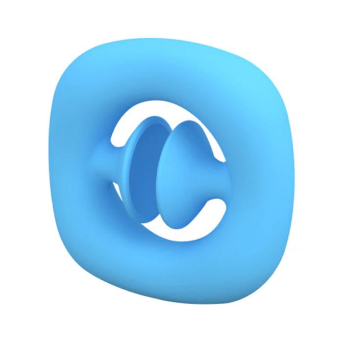 Pop It Snapper - Fidget Anti Stress Speelgoed Bubble Toy Siliconen Blauw