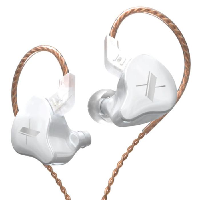 Écouteurs EDX 1DD - Écouteurs AUX 3,5 mm Contrôle du bruit Contrôle du volume Écouteurs filaires Blanc