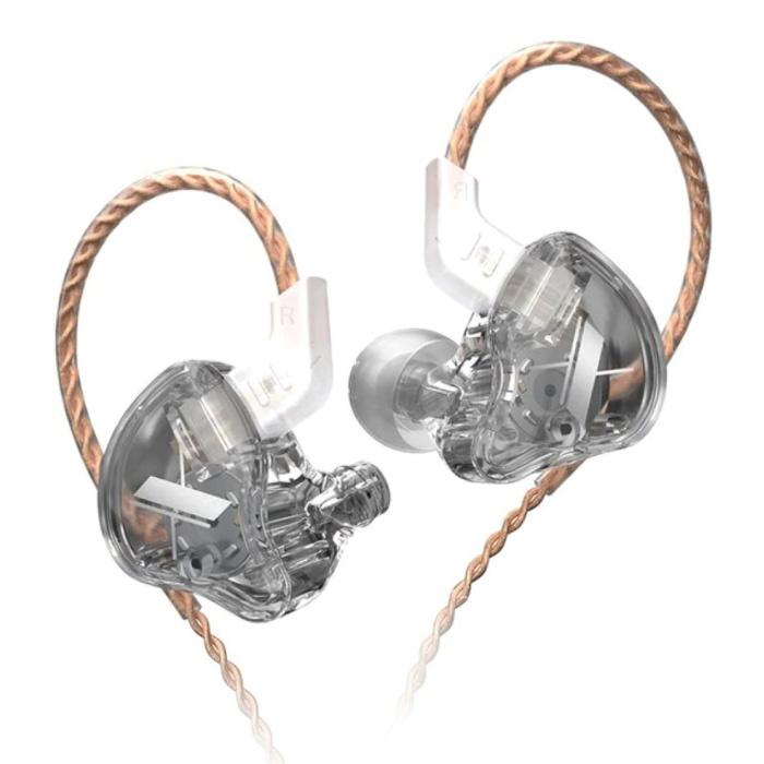 EDX 1DD Oordopjes - 3.5mm AUX Oortjes Noise Control Volumebeheer Wired Earphones Oortelefoon Transparant