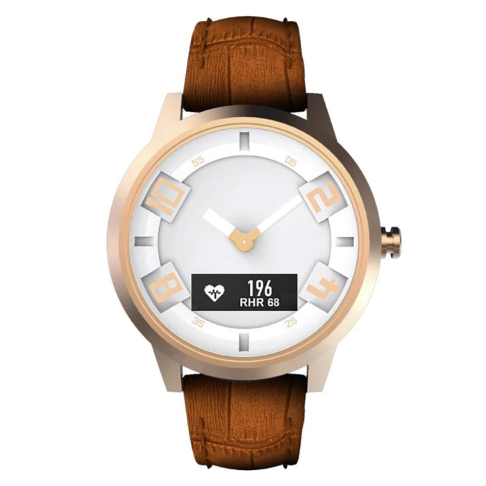 Watch X Watch with Heart Rate Monitor - Fitness Tracker Sport 80ATM Waterproof Leather Strap Anologue Movement Smartwatch