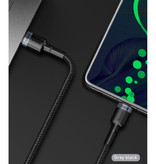 Baseus 100W USB-C naar USB-C Oplaadkabel 2 Meter Gevlochten Nylon - Tangle Resistant Oplader Data Kabel Zwart