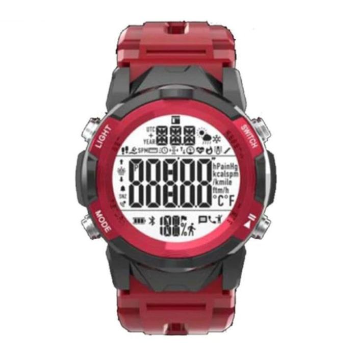 C2 Sport Watch - Fitness Sport Activity Tracker Smartwatch Red