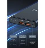 Kuulaa 10.000mAh Draadloze Qi Oplader + Powerbank Noodaccu Wireless Charger Pad Zwart