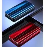 Nohon 10.000mAh Powerbank met 4 Poorten - LED Display Externe Noodaccu Oplader Charger Zwart