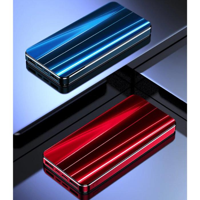 Nohon 10.000mAh Powerbank met 4 Poorten - LED Display Externe Noodaccu Oplader Charger Rood