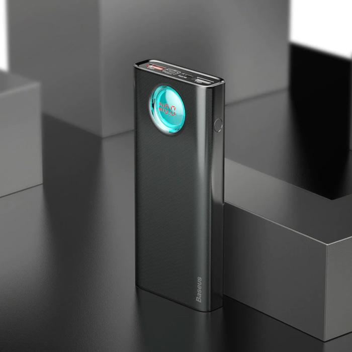Powerbank met 5 Poorten en Quick Charge 3.0 - 20.000mAh LED Display Externe Noodaccu Oplader Charger Zwart