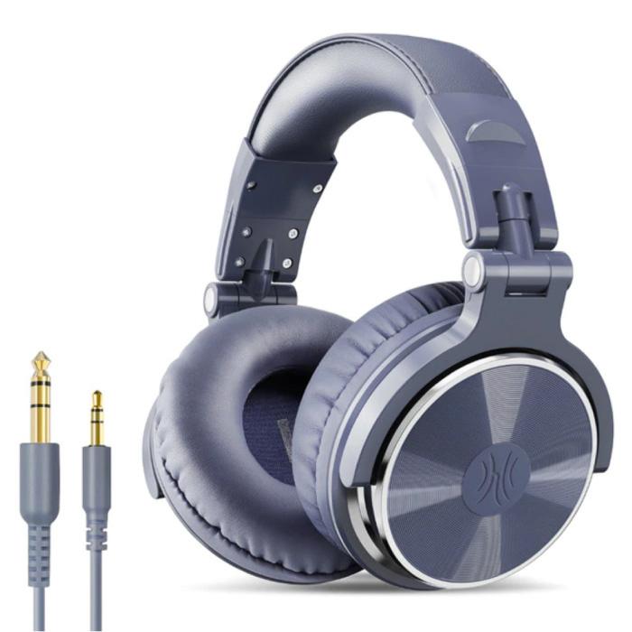 Casque de studio avec connexion AUX 6,35 mm et 3,5 mm - Casque avec microphone Casque DJ Violet