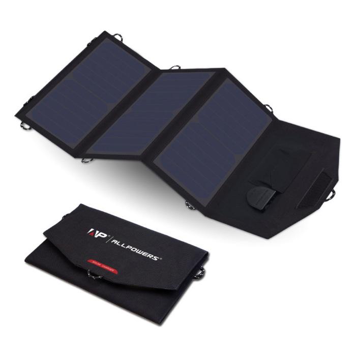 Draagbaar Flexibel Zonnepaneel - Zonne-energie Oplader 18V/21W