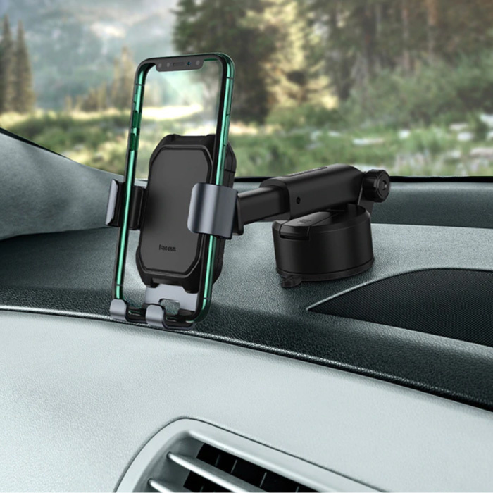 Universal Phone Holder Car with Dashboard Stand - Gravity Smartphone Holder Black