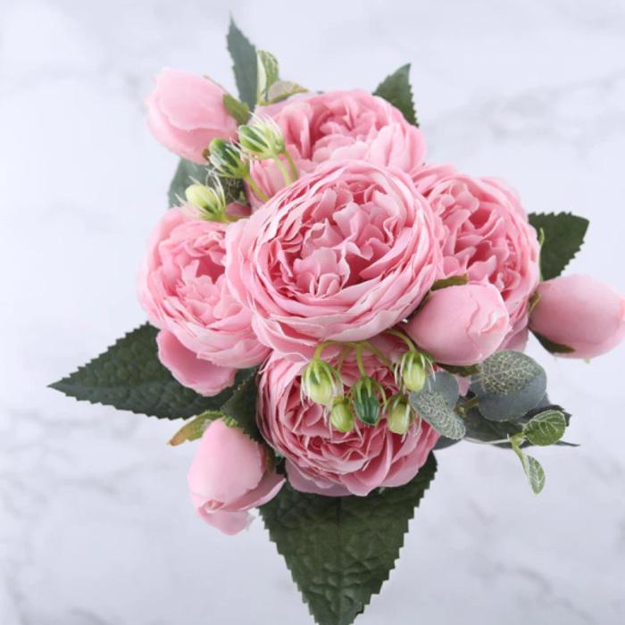 Art Bouquet - Soie Roses Rose Fleurs Bouquets De Luxe Décor Ornement Rose