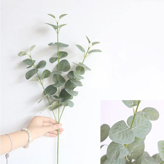 Kunst Boeket - Zijden Eucalyptus Planten Plant Luxe Boeketten Decor Ornament Groen