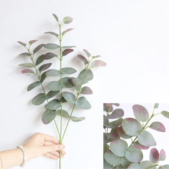 Kunst Boeket - Zijden Eucalyptus Planten Plant Luxe Boeketten Decor Ornament Rood