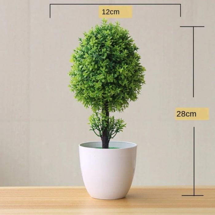 Bonsaï artificiel - Plantes Faux ornement de décoration en plastique de plantes