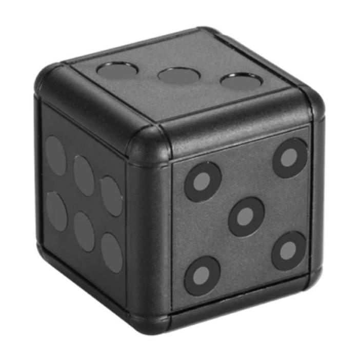 Mini dés de caméra de sécurité SQ16 - Alarme de détecteur de mouvement de caméscope HD 1080p noir