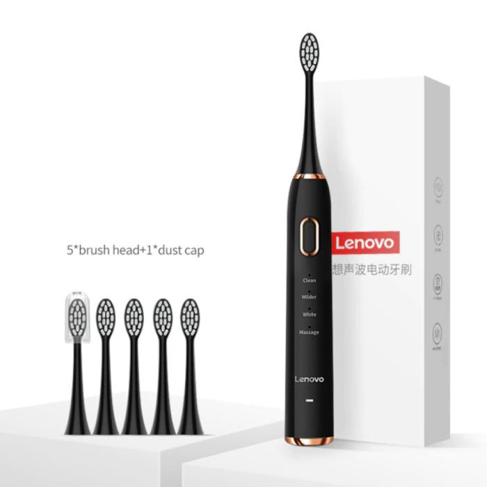 Elektrische Tandenborstel Set 1 - Waterdicht Sonisch USB Oplaadstation Zwart