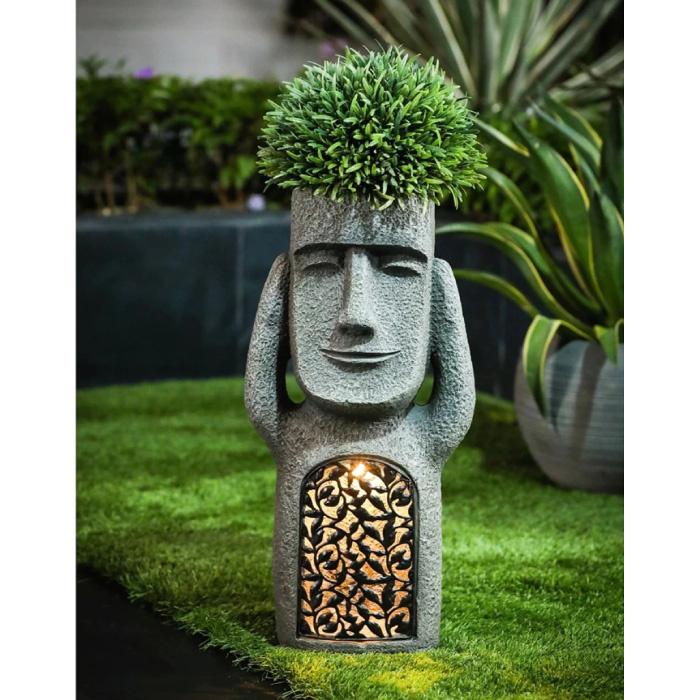 Paaseiland Standbeeld - Tuin Decor Ornament Hars Sculptuur