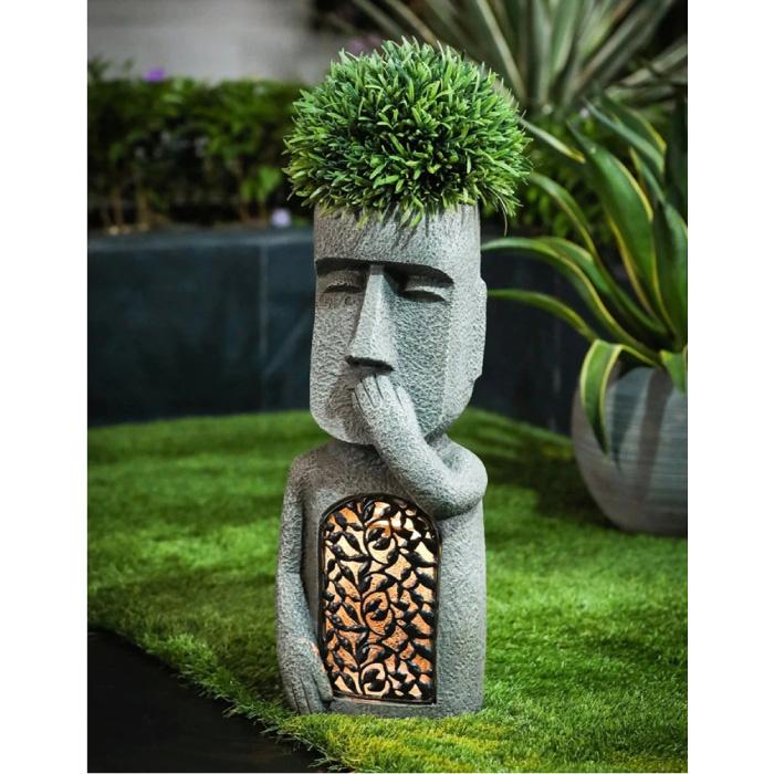 Easter Island Statue - Garden Decor Ornament Resin Sculpture