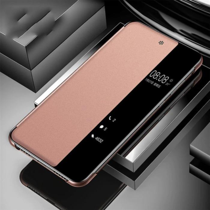 Samsung Galaxy A31 - Smart View LED Flip Case Cover Hoesje Roze