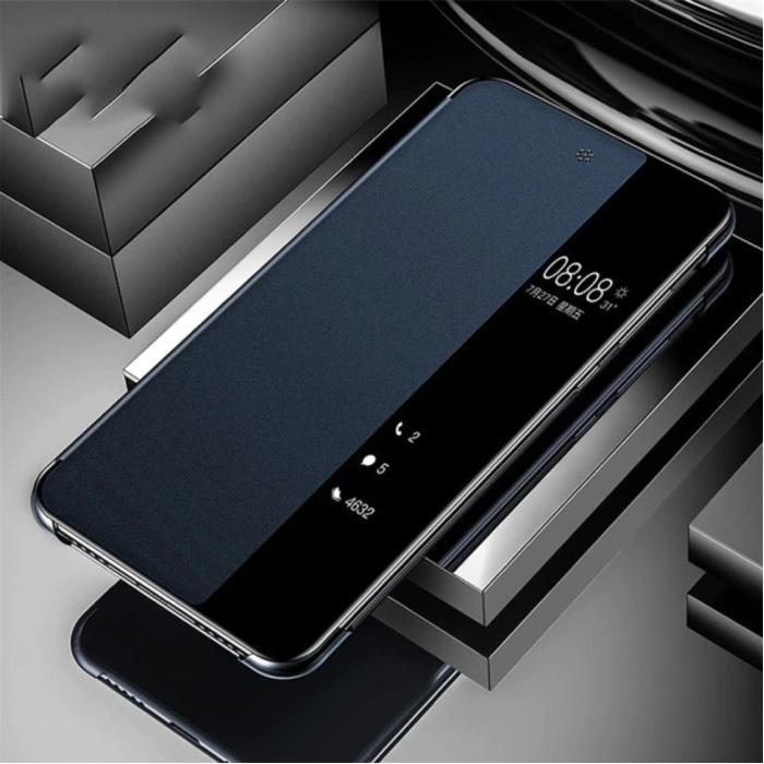 Samsung Galaxy A71 - Etui à Rabat Smart View LED Bleu