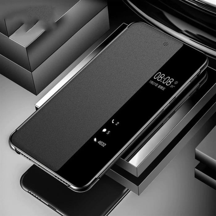 Samsung Galaxy A31 - Smart View LED Flip Case Cover Hoesje Zwart