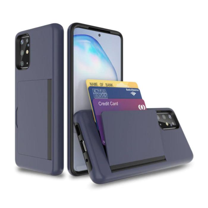Samsung Galaxy S10e - Wallet Card Slot Cover Case Case Business Navy