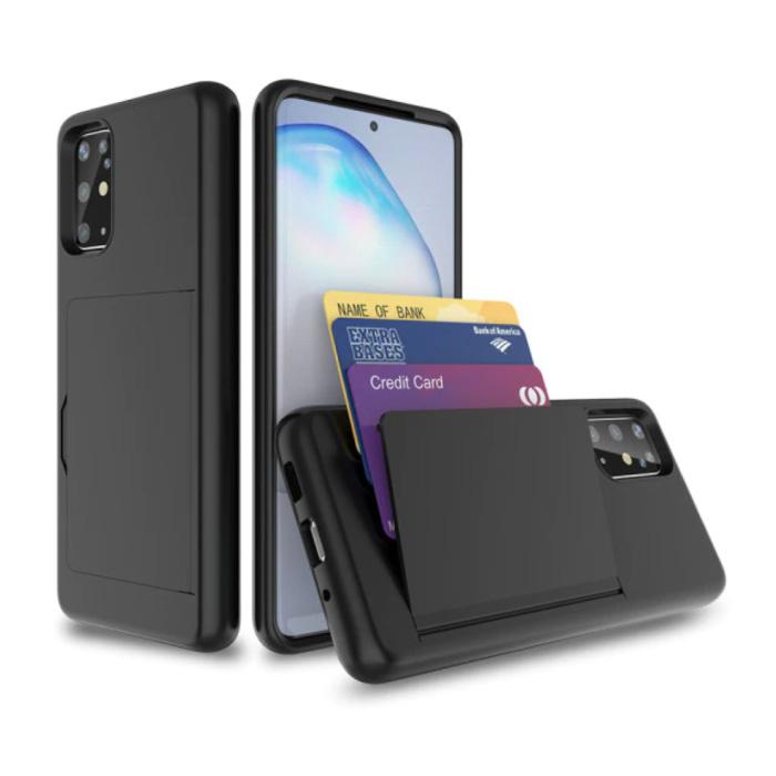 Samsung Galaxy S20 - Wallet Card Slot Cover Case Hoesje Business Zwart