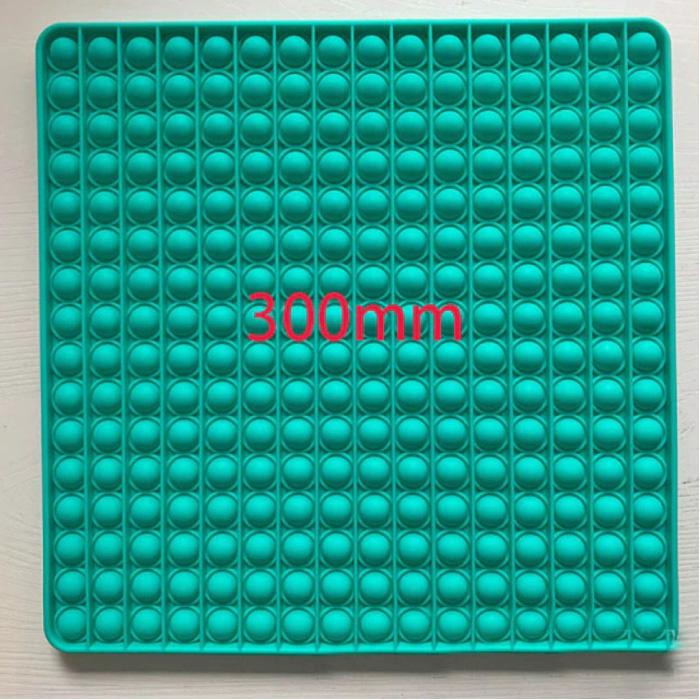 XXL Pop It - 300mm Extra Extra Groot Fidget Anti Stress Speelgoed Bubble Toy Siliconen Vierkant Blauw