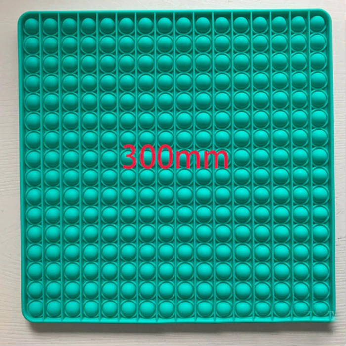 XXL Pop It - 300mm Extra Extra Large Fidget Anti Stress Toy Bubble Toy Silicone Square Blue
