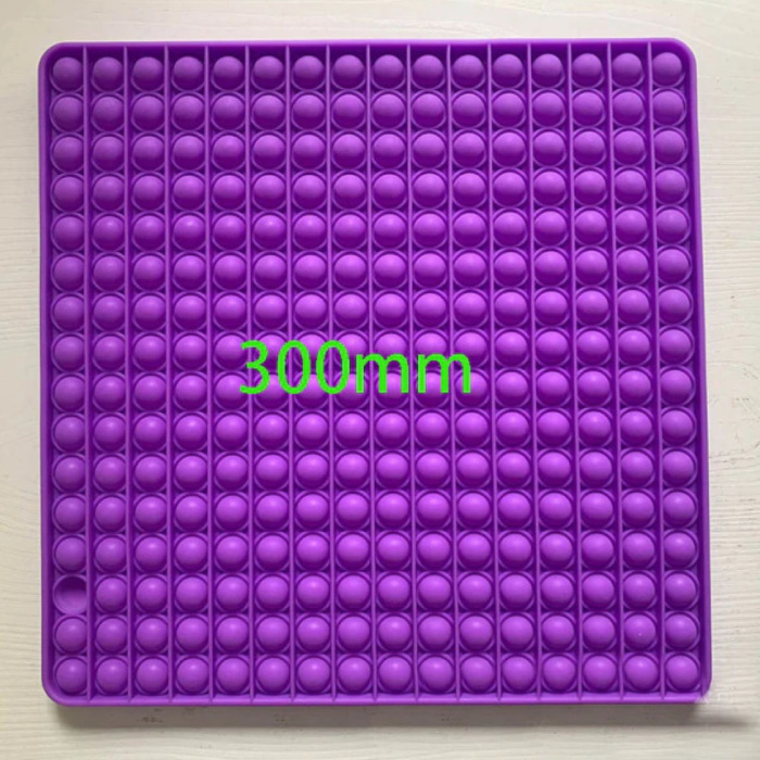 XXL Pop It - 300mm Extra Extra Large Fidget Anti Stress Toy Bubble Toy Silicone Square Purple