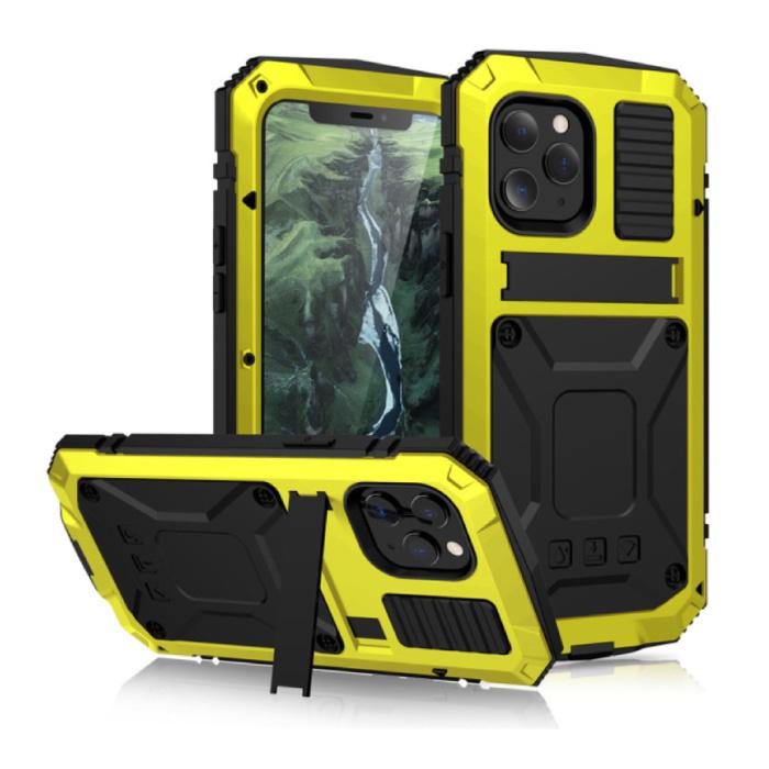 Coque iPhone 11 Pro Max 360 ° Full Body + Protecteur d'écran - Housse antichoc Jaune