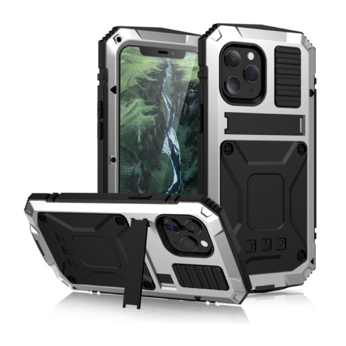 iPhone 11 Pro Max 360 ° Full Body Case Case + Screen Protector - Shockproof Cover White