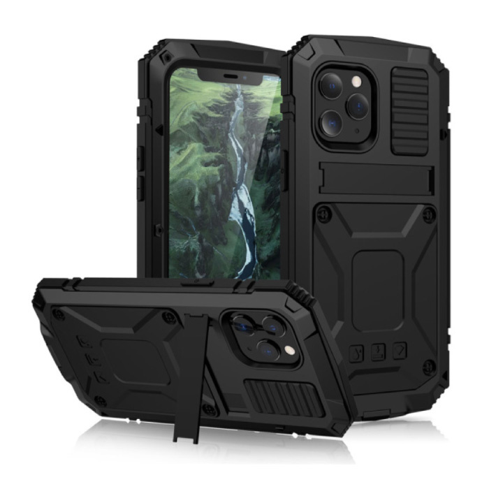 iPhone 11 Pro Max 360 ° Full Body Case Case + Screen Protector - Shockproof Cover Black