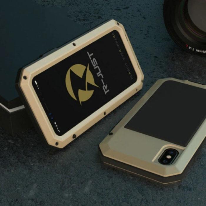 iPhone 6 360°  Full Body Case Tank Hoesje + Screenprotector - Shockproof Cover Goud