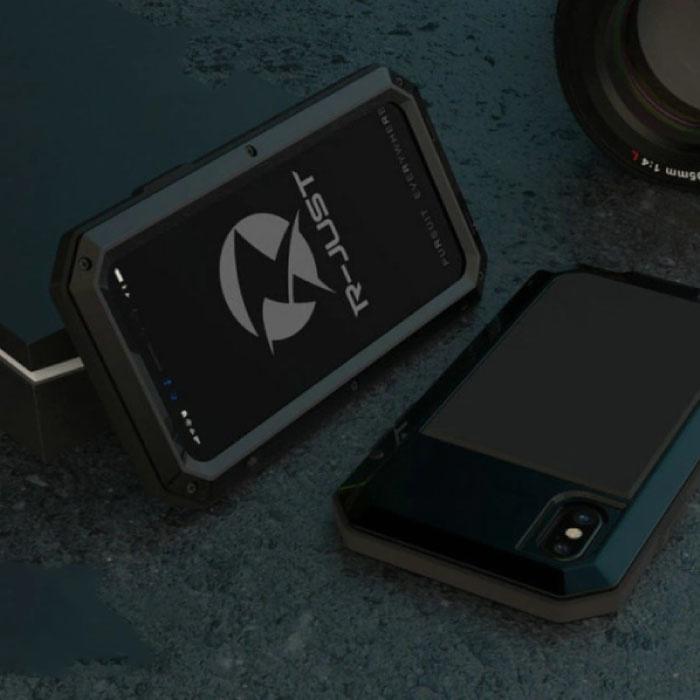 iPhone XS 360°  Full Body Case Tank Hoesje + Screenprotector - Shockproof Cover Zwart