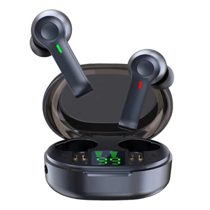 R22 Draadloze Oortjes - Touch Control Oordopjes TWS Bluetooth 5.1 Earphones Earbuds Oortelefoon Zwart