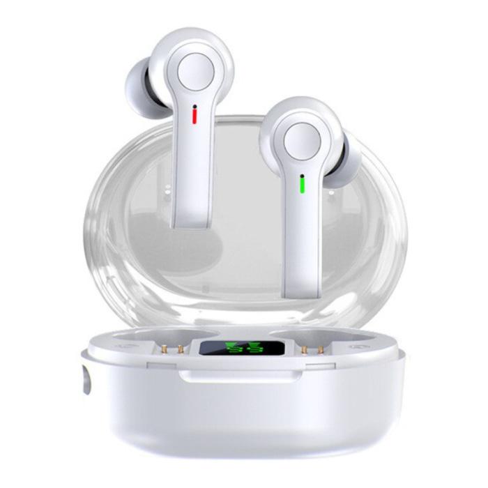 R22 Draadloze Oortjes - Touch Control Oordopjes TWS Bluetooth 5.1 Earphones Earbuds Oortelefoon Wit