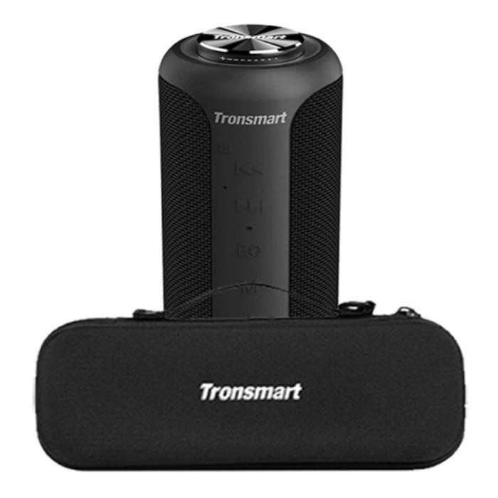 T6 Plus Bluetooth 5.0 Soundbox met Opbergtas - Draadloze Luidspreker Externe Wireless Speaker Zwart