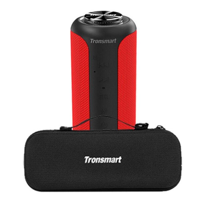 T6 Plus Bluetooth 5.0 Soundbox met Opbergtas - Draadloze Luidspreker Externe Wireless Speaker Rood