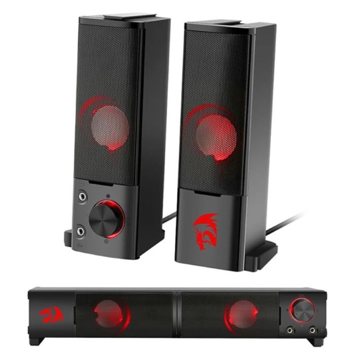 Orpheus GS550 Ensemble de haut-parleurs stéréo pour la maison - Haut-parleurs stéréo 2 en 1 Boîte de haut-parleurs Soundbar Noir