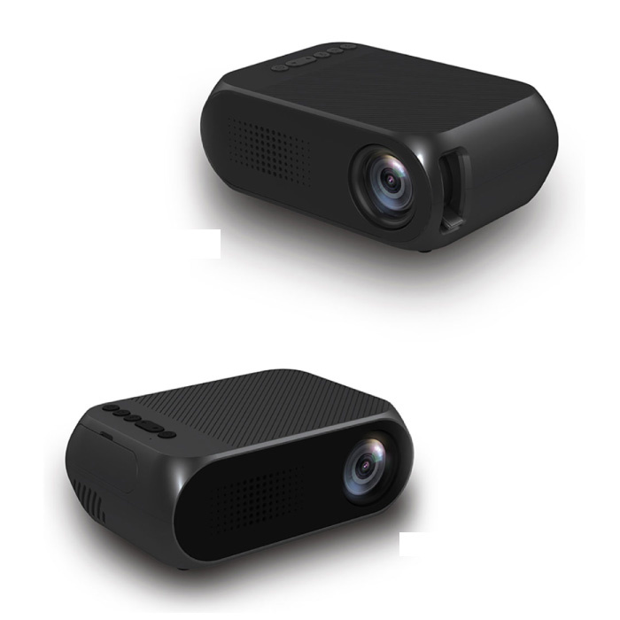 Mini projecteur LED YG320 - Beamer écran Home Media Player noir
