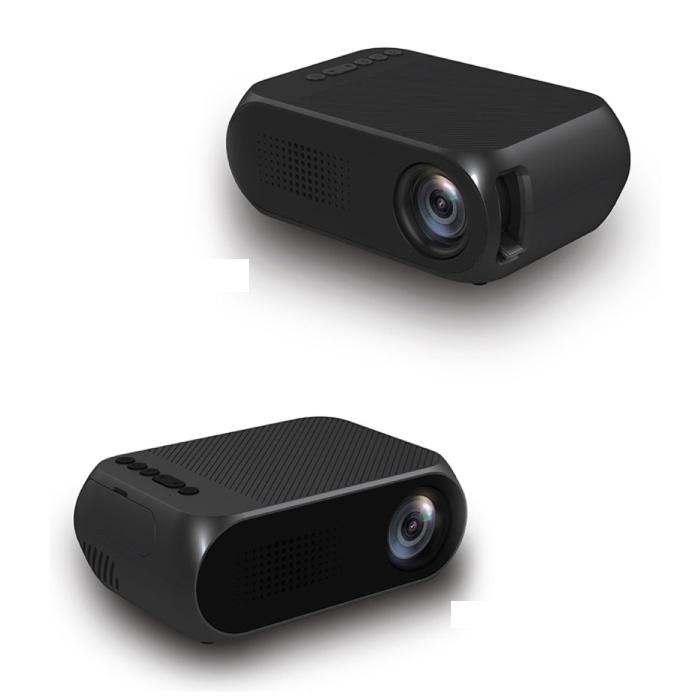 YG320 Mini LED Projector - Scherm Beamer Home Media Speler Zwart