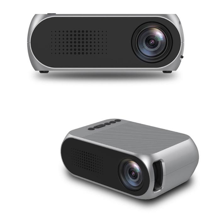 Mini projecteur LED YG320 - Projecteur d'écran Beamer Home Media Player Argent