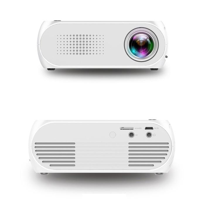 Mini projecteur LED YG320 - Beamer écran Home Media Player blanc