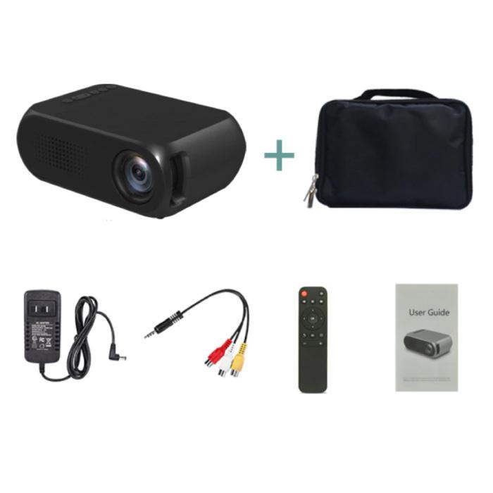 Mini projecteur LED YG320 - Beamer écran Home Media Player noir - Copy