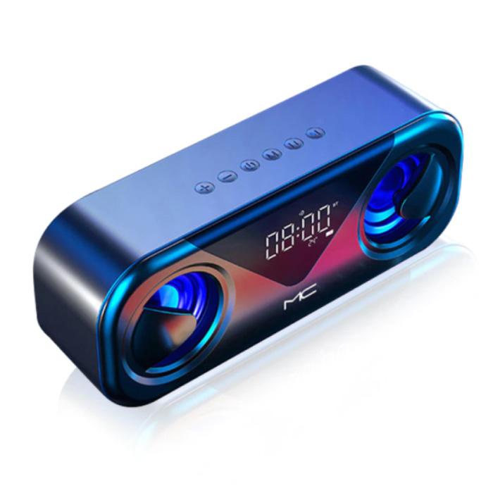 Bluetooth 5.0 Soundbox met FM Radio - Draadloze Luidspreker Externe Wireless Speaker Blauw