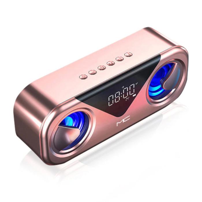 Soundbox Bluetooth 5.0 avec radio FM - Haut-parleur sans fil Haut-parleur externe sans fil Rose